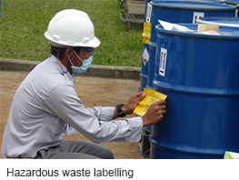 Hazardous waste labelling