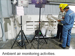 Ambient air monitoring activities.