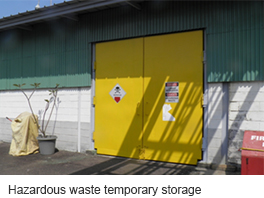Hazardous waste temporary storage