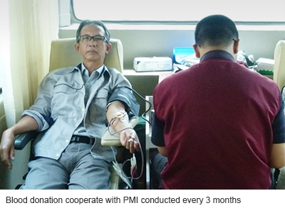 Blood donation cooperate with PMI conducted every 3 months