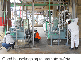 Good housekeeping to promote safety.